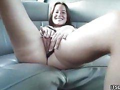 Teen teasing i en limo