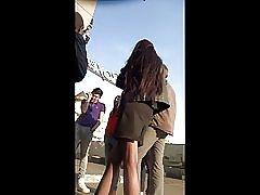 Bussiness jente strømper upskirt