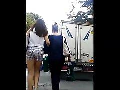 Tett tyrkiske teen ass i tynn shorts
