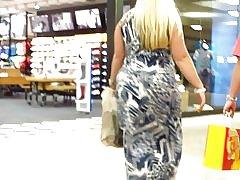 Blonde tykk bbw shopping fedre dag sexy af!
