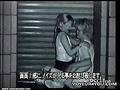 To kåte par utendørs sex