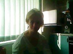 Russisk moden med store pupper på chatroulette