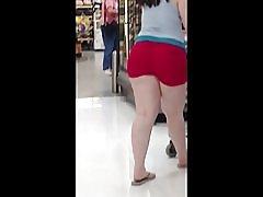 Tykk pawg røde hjertet shorts