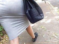 Store asss skjørt se gjennom thong
