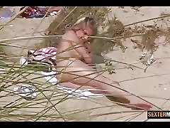 Forbudt kameraet blonde natt på sanddynene