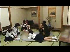 Japansk studenter Gruppesex